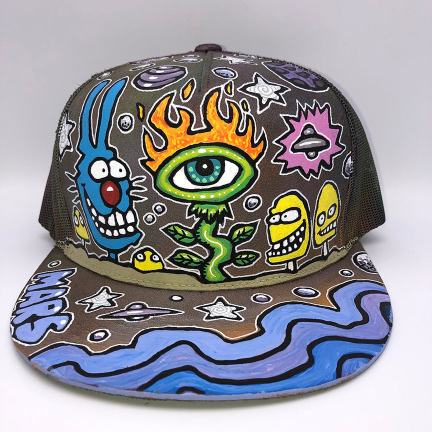 Image of Hand Painted Hat 111_21