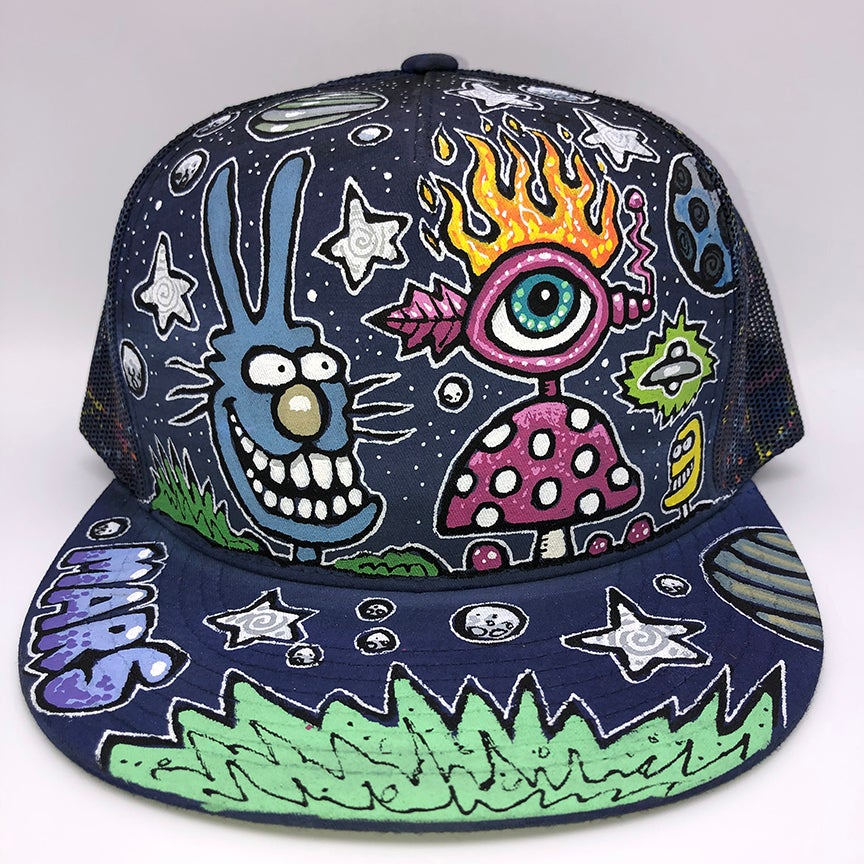 Image of Hand Painted Hat 112_21