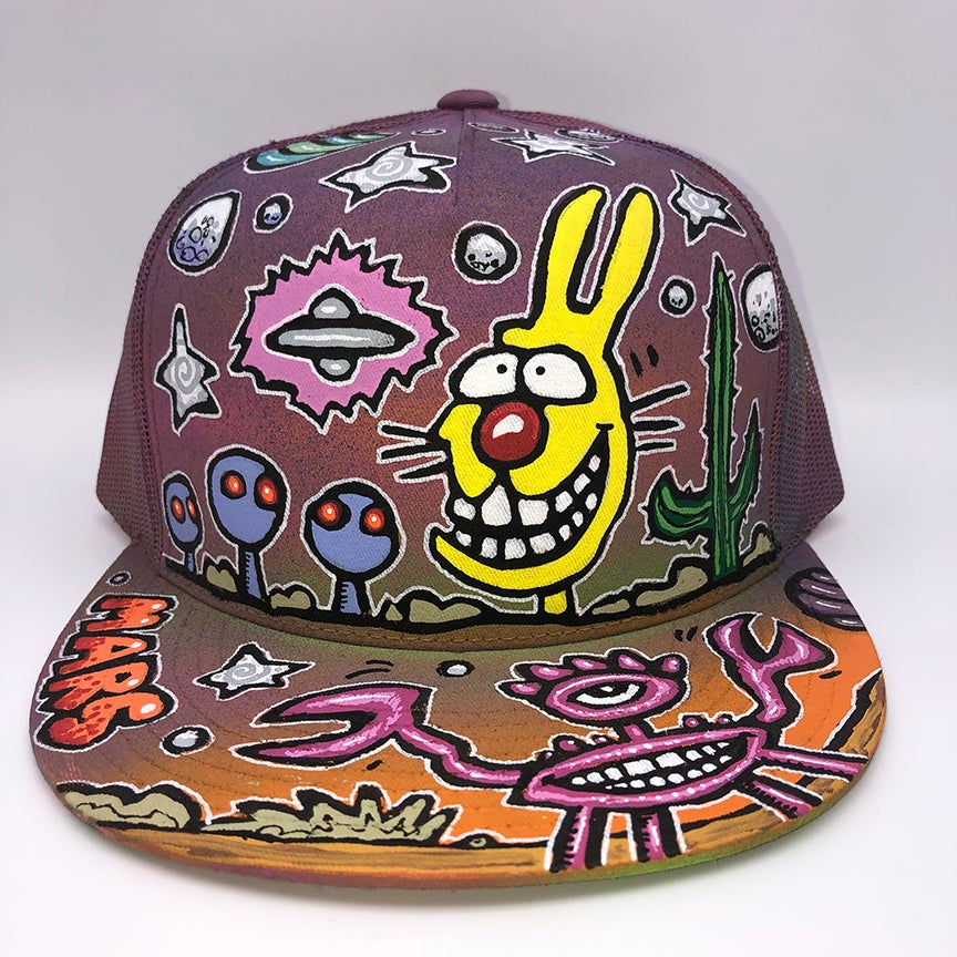 Image of Hand Painted Hat 113_21