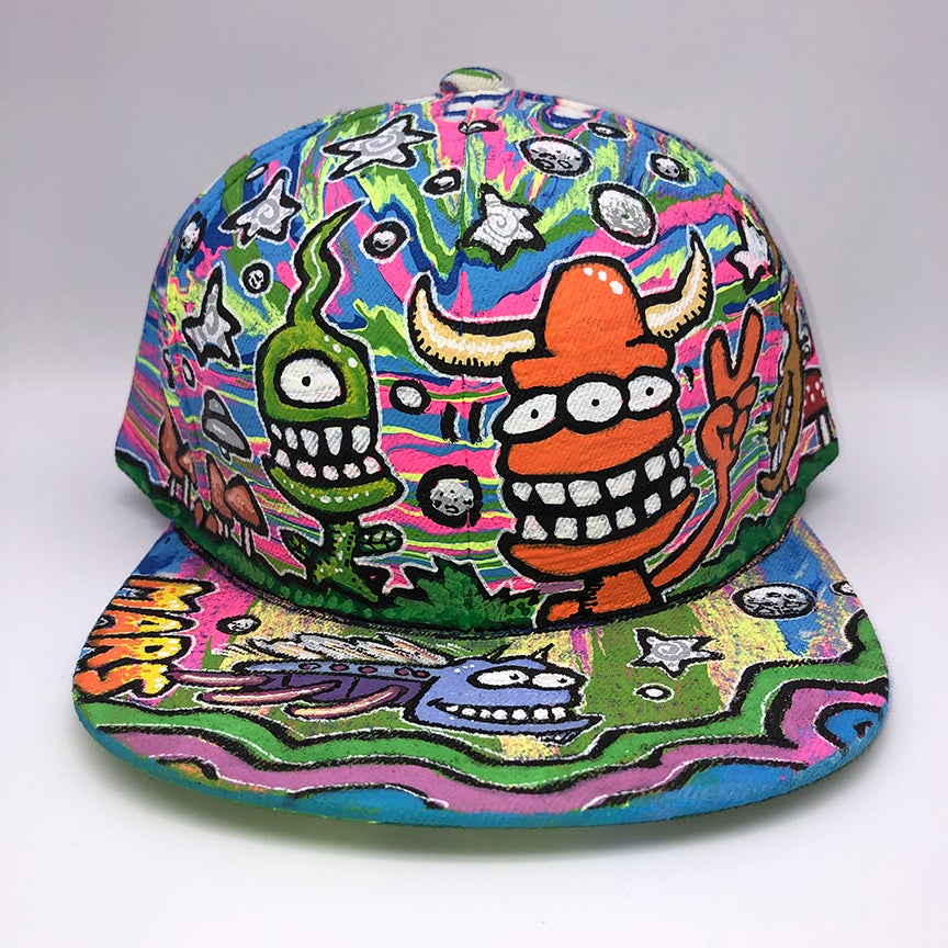 Image of Hand Painted Hat 114_21