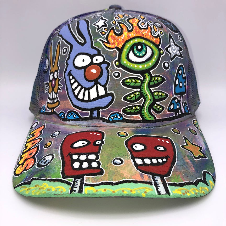 Image of Hand Painted Hat 115_21