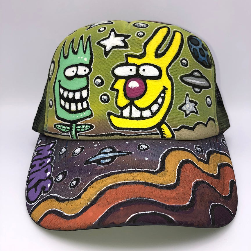 Image of Hand Painted Hat 116_21