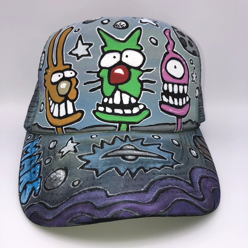 Image of Hand Painted Hat 117_21