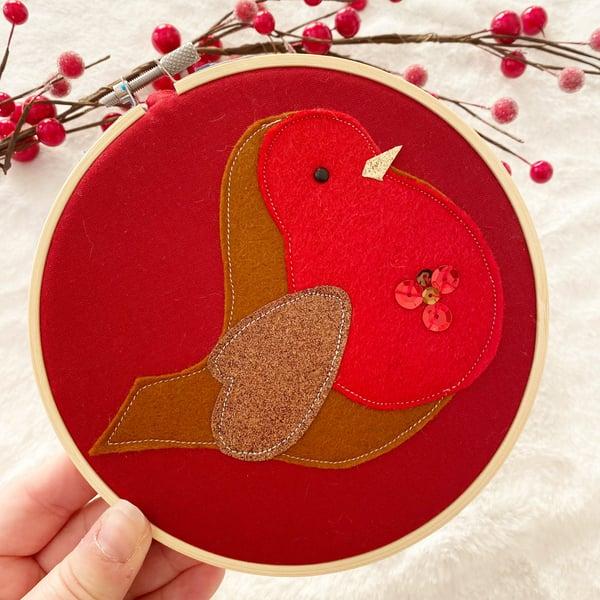 Image of Red robin hoop