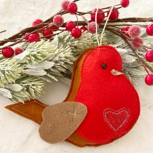 Image of Personalised robin decoration