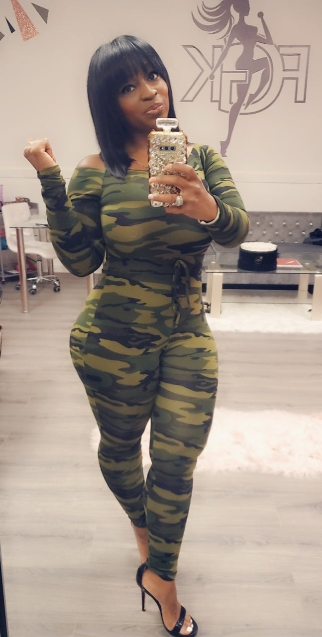Image of Fitted Camo Jumpsuit
