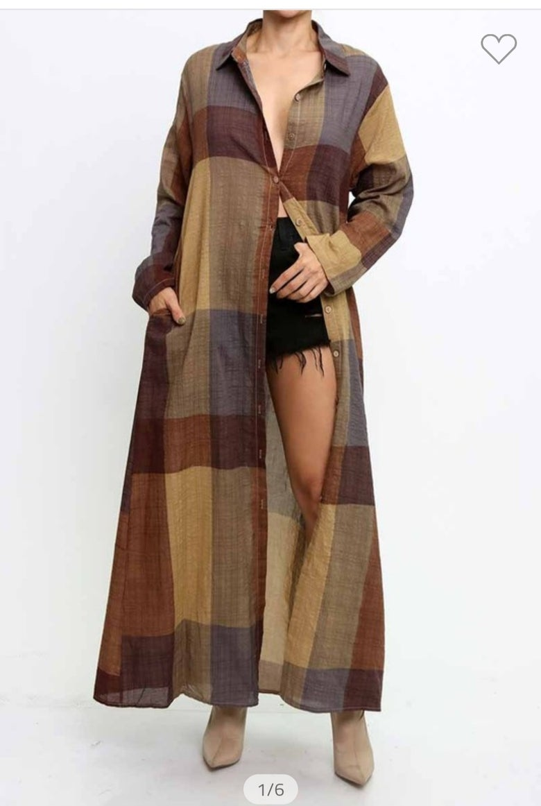 Image of Plaid Shirt/Cover up