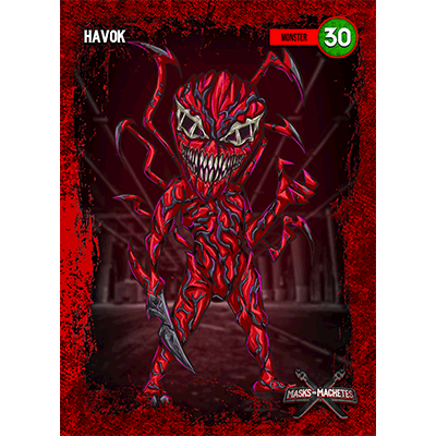 """Image of """"Havok"""" Solo Card"""