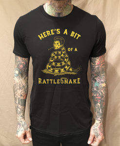Image of HERE'S A BIT OF A RATTLESNAKE BLACK TEE