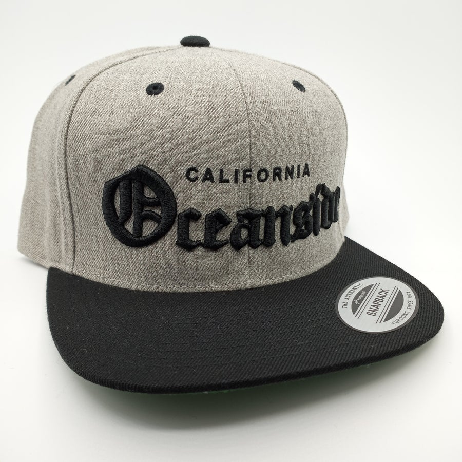 Image of Oceanside Old English Snapback (Two Tone)