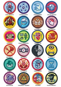 Image of Alternative Scouting Merit Badges - FULL SET OF 24