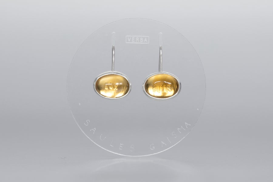 """Image of """"Light of the Sun"""" silver earrings with citrines  · LUX SOLIS  ·"""
