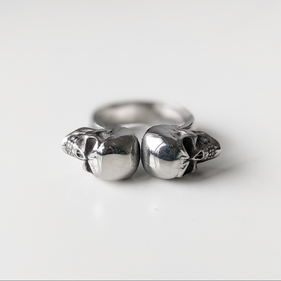Image of Double Skull Ring