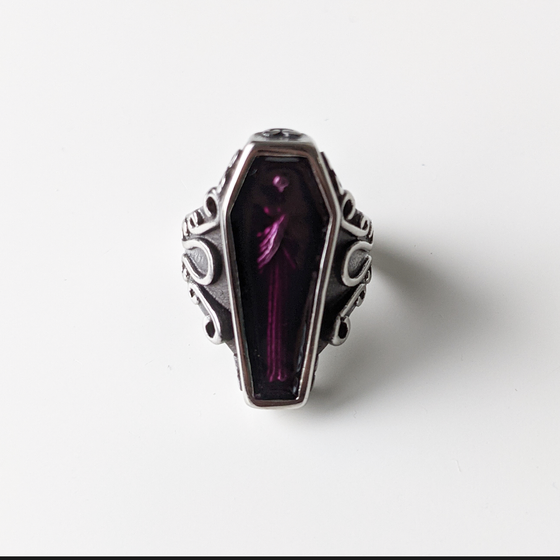 Image of Purple Coffin Ring