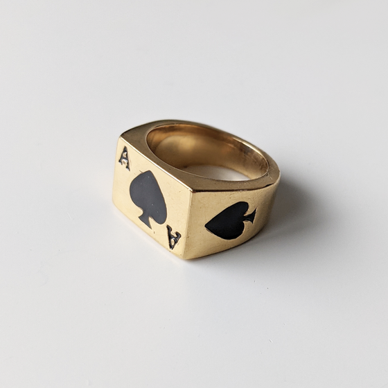 Image of Gold Ace Of Spades Ring