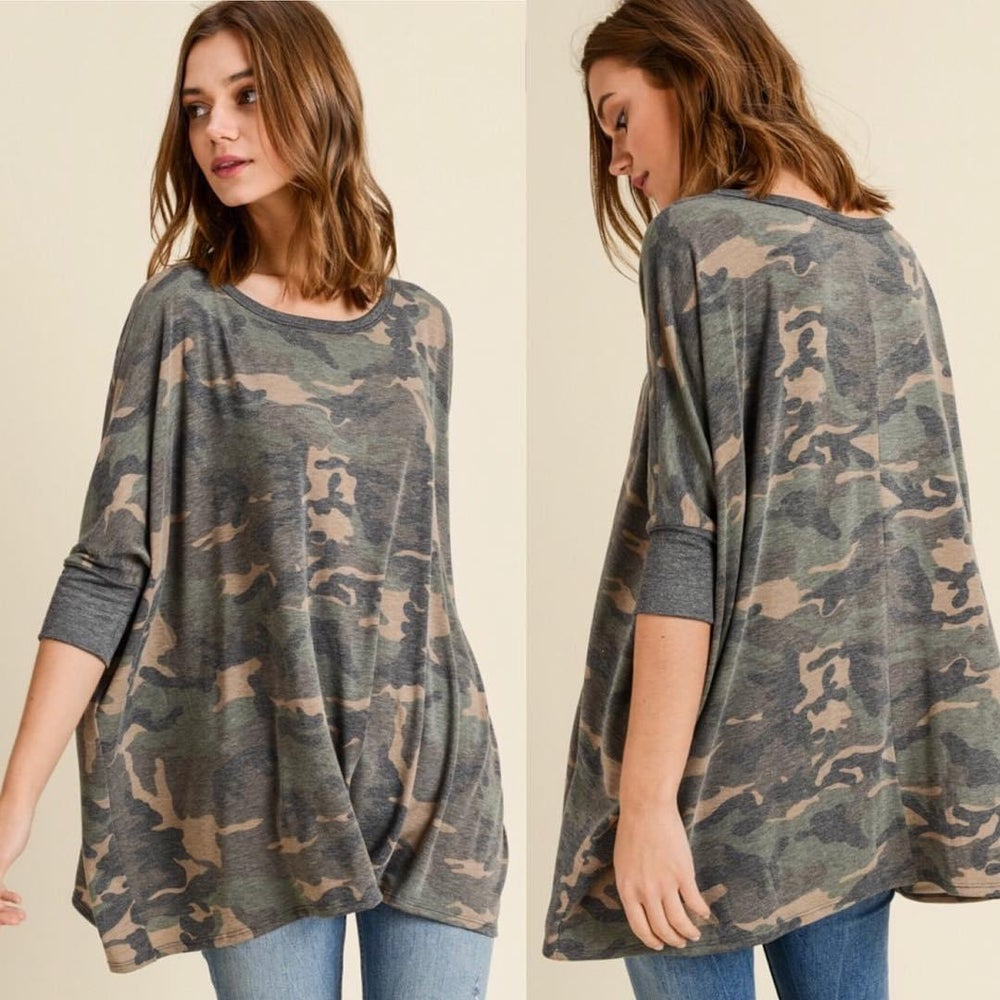 Image of WASHED CAMO TOP