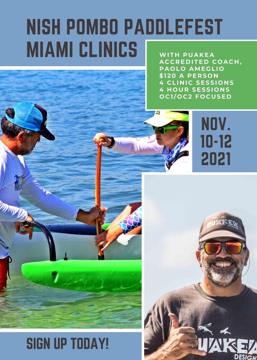 Image of Nish Pombo Paddlefest Miami Clinics - Nov 2021