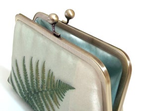 Image of Green fern clutch bag
