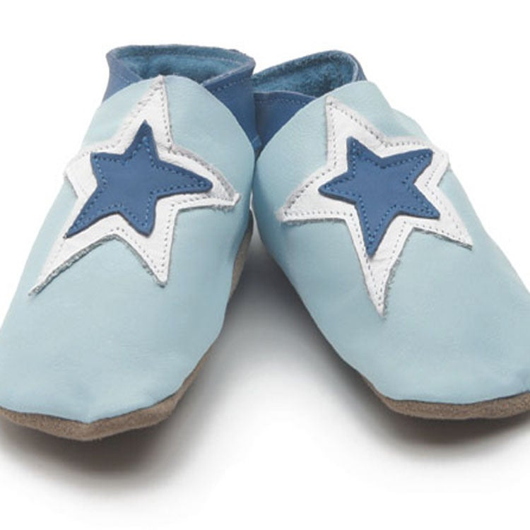 Image of Baby Blue Star Soft Shoes