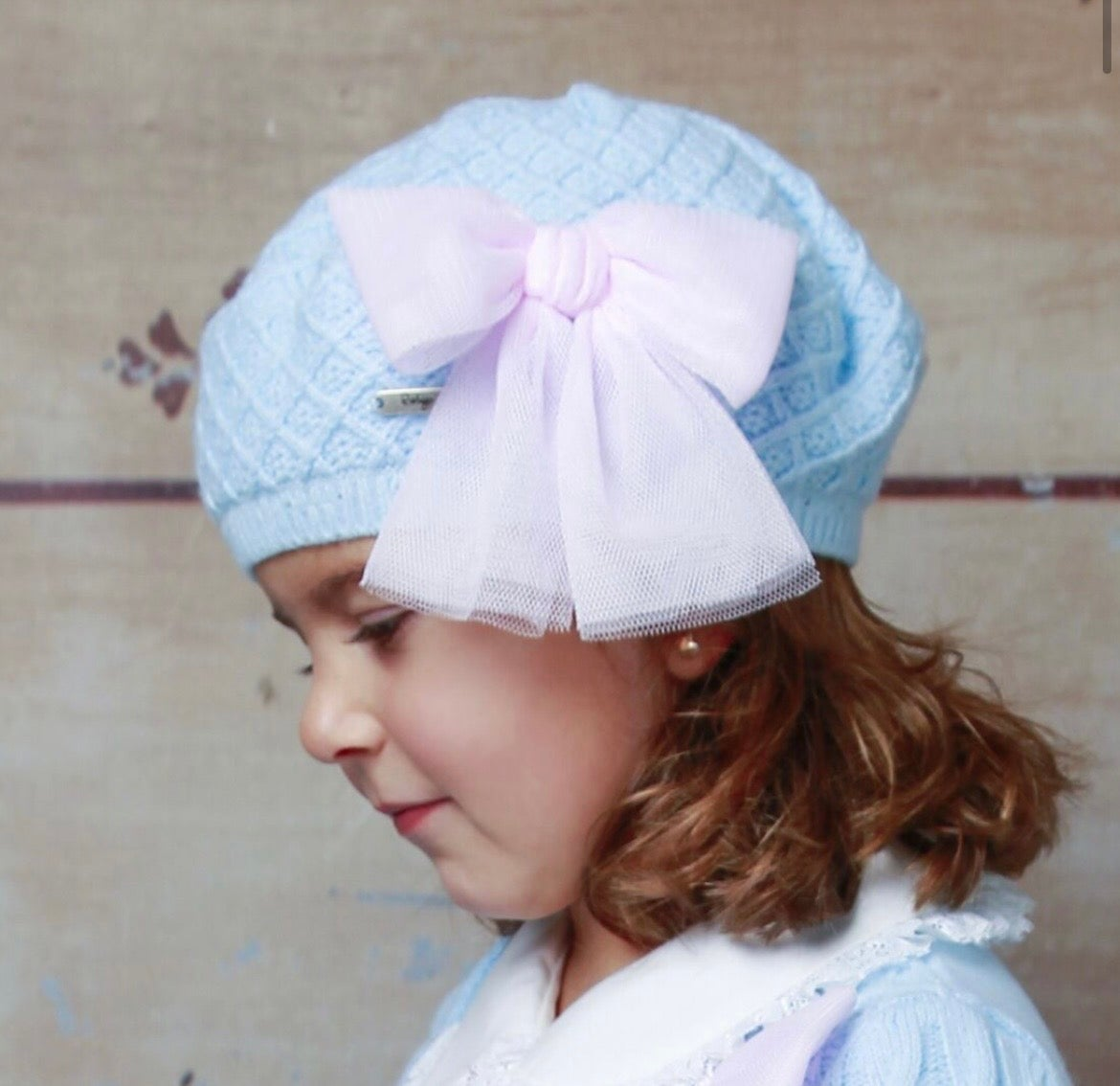 Image of 21210 Beret BABY BLUE/PINK