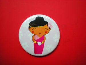 "Image of Pocket Mirror ""Hindi lady"""