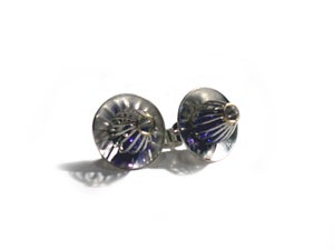 "Image of ""Golden Anemone"" Stud Earrings Small"