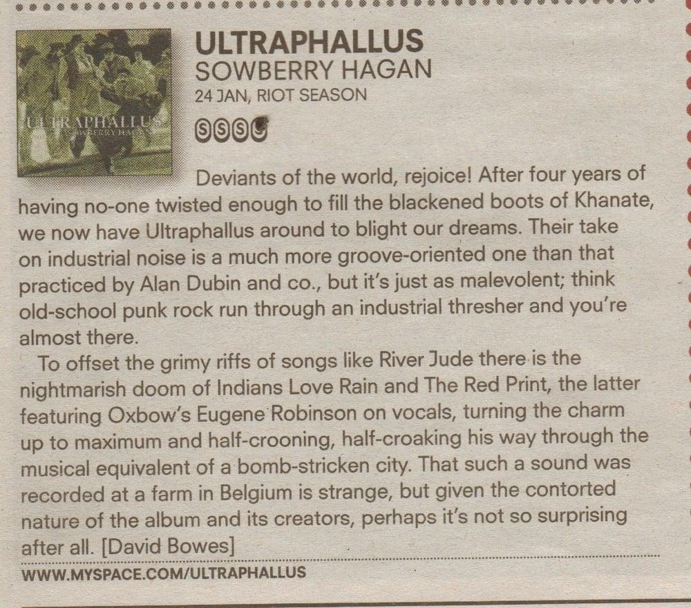 ULTRAPHALLUS 'Sowberry Hagan' CD