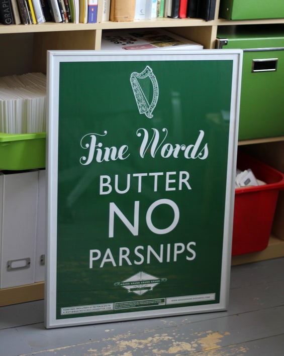 Image of Fine Words Butter No Parsnips (Green or Gold)