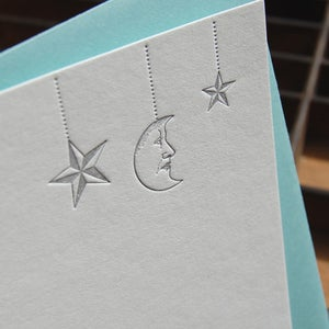 Image of Letterpress Note Set: Moon-and-Stars