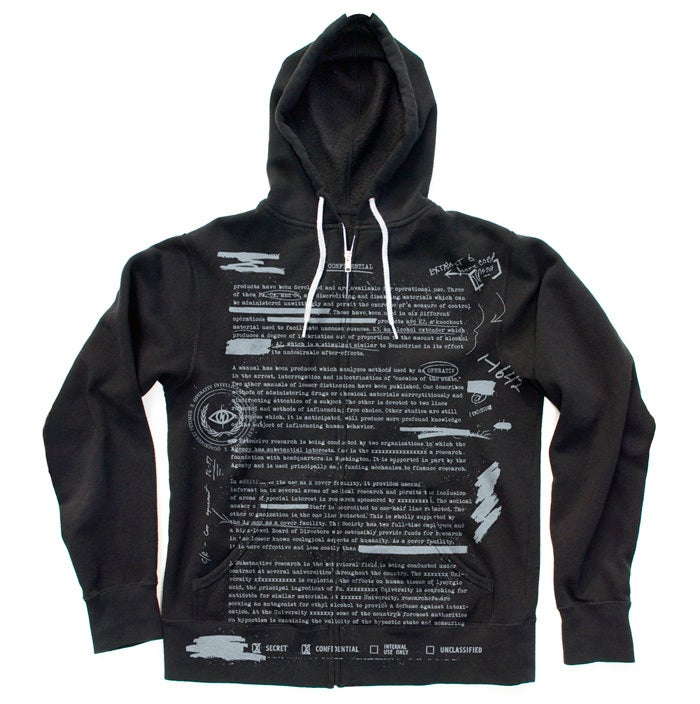 Image of MKULTRA ZIP-UP HOODIE