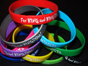 "Image of ""For King And Kingdom/MYNISTA"" [10 Pack/color Silicone Wristbands]"