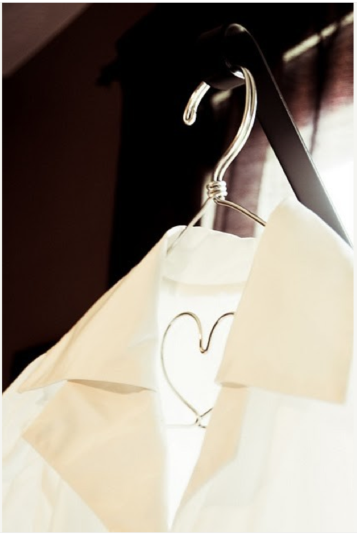 Image of The Original I Heart You Silver Lingerie Hanger