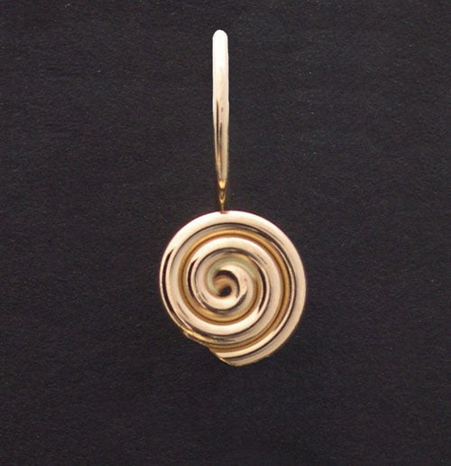Image of Rosette with leaf earrings