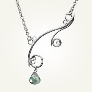 Image of Greek Isle Necklace with Green Mystic Quartz, Sterling Silver