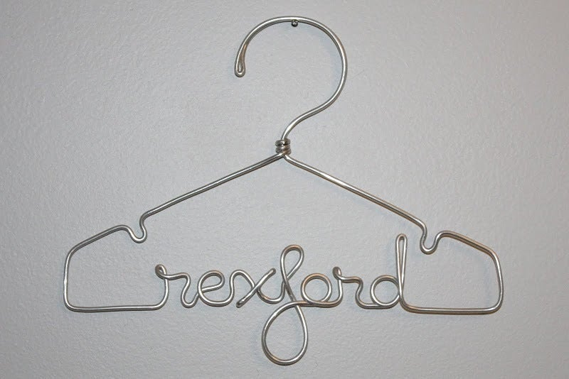 Image of The Original Twelve Inch Personalized Wire Hanger