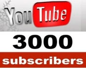 Image of 3000 YouTube Subscribers