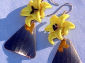 Image of Day Lily Gold Earrings