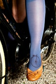 Image of Hand-dyed and Printed Knee-high Stockings