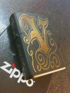 Image of Victory Electric Tattoo limited edition brass Zippo lighter