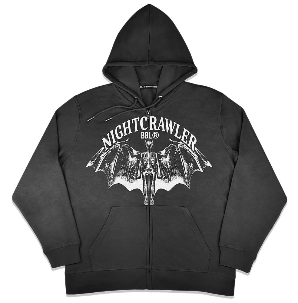 Image of Nightcrawler Zip Up Hoodie (Black)