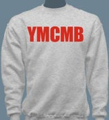 Image of YMCMB Crewneck Sweater Red/Grey S-XL