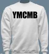 Image of YMCMB Crewneck Sweater Black/White S-XL