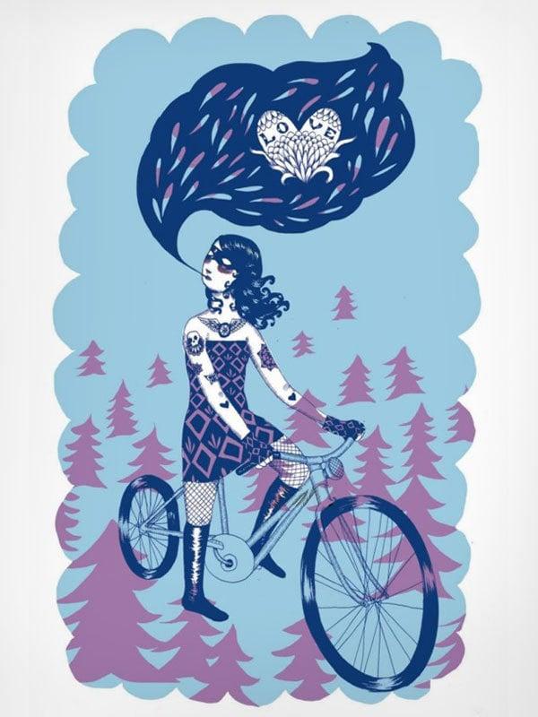 "Image of Jennifer Parks ""Bicycle Love"""