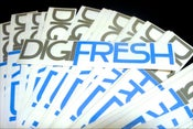 "Image of DigiFresh Decal - Gray/""Fresh""Blue"