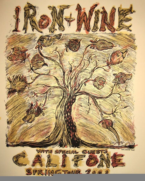 Iron and Wine / Califone Tour poster