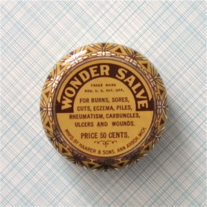 Image of Antique Medicine Salve Tin Circa 1926