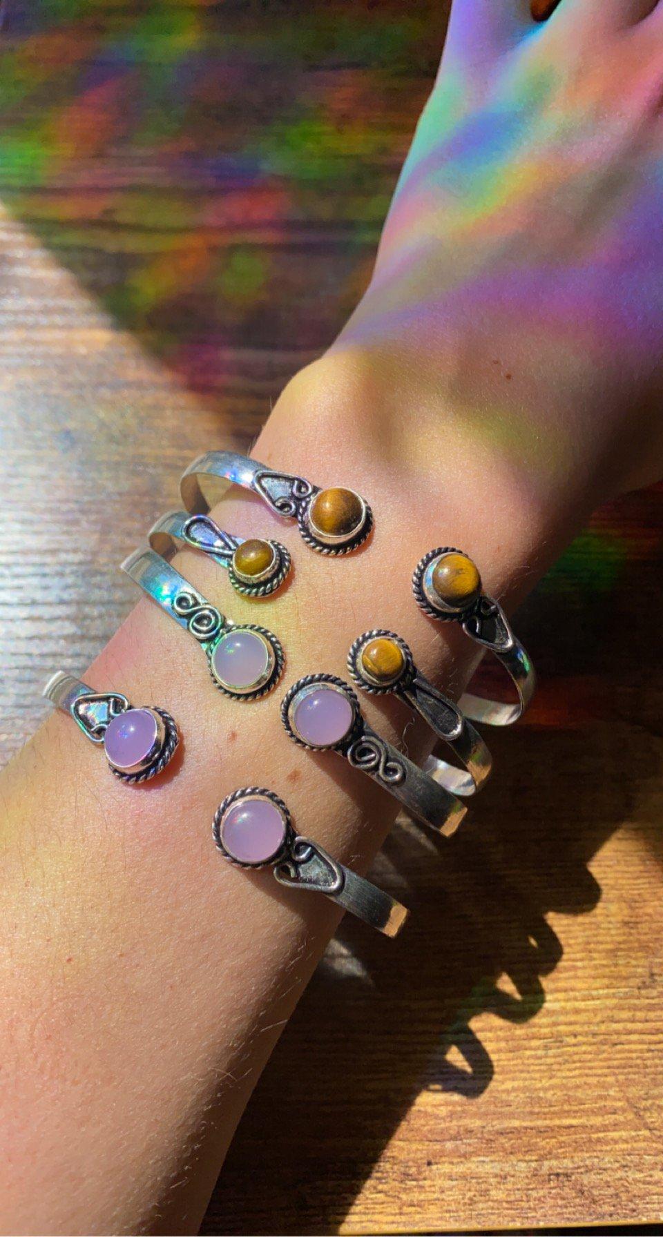 Image of adjustable crystal bracelet bands/arm cuffs