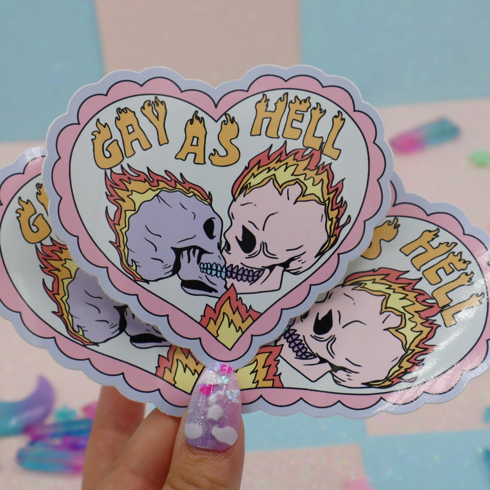 Image of Gay As Hell Large Vinyl Sticker