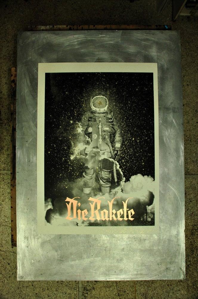 Die Rakete / Handprinted Silkscreen Poster