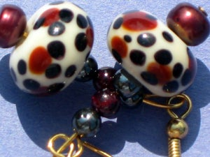 Image of Cheetahs and Wine Earrings